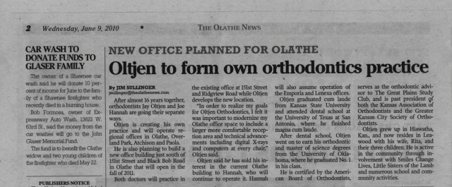 Dr.-Oltjen-in-the-news-The-Olathe-News-thegem-blog-masonry  - Braces and Invisalign in Kansas City, Overland Park, Olathe, and Paola, Kansas - Oltjen Orthodontics