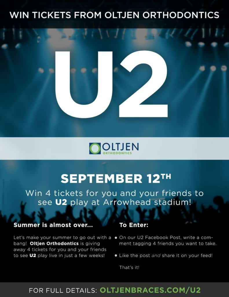 U2-Poster-Brian-791x1024  - Braces and Invisalign in Kansas City, Overland Park, Olathe, and Paola, Kansas - Oltjen Orthodontics