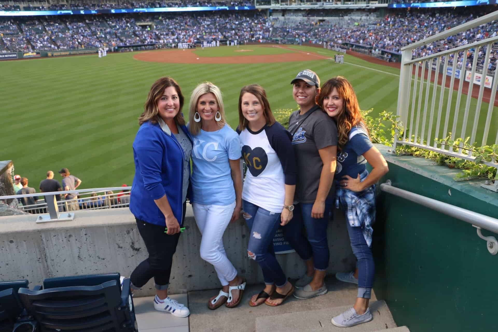 outfield-group-royals  - Braces and Invisalign in Kansas City, Overland Park, Olathe, and Paola, Kansas - Oltjen Orthodontics