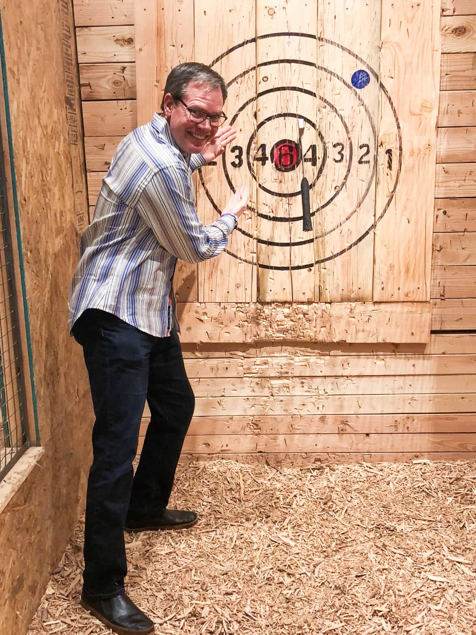 dr-ax-throwing  - Braces and Invisalign in Kansas City, Overland Park, Olathe, and Paola, Kansas - Oltjen Orthodontics